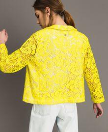 Chaqueta blazer de encaje de macramé Amarillo Fluo Mujer 191MT2150-04