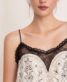 Lace top with embroidery Ivory Woman 201TP2461-05