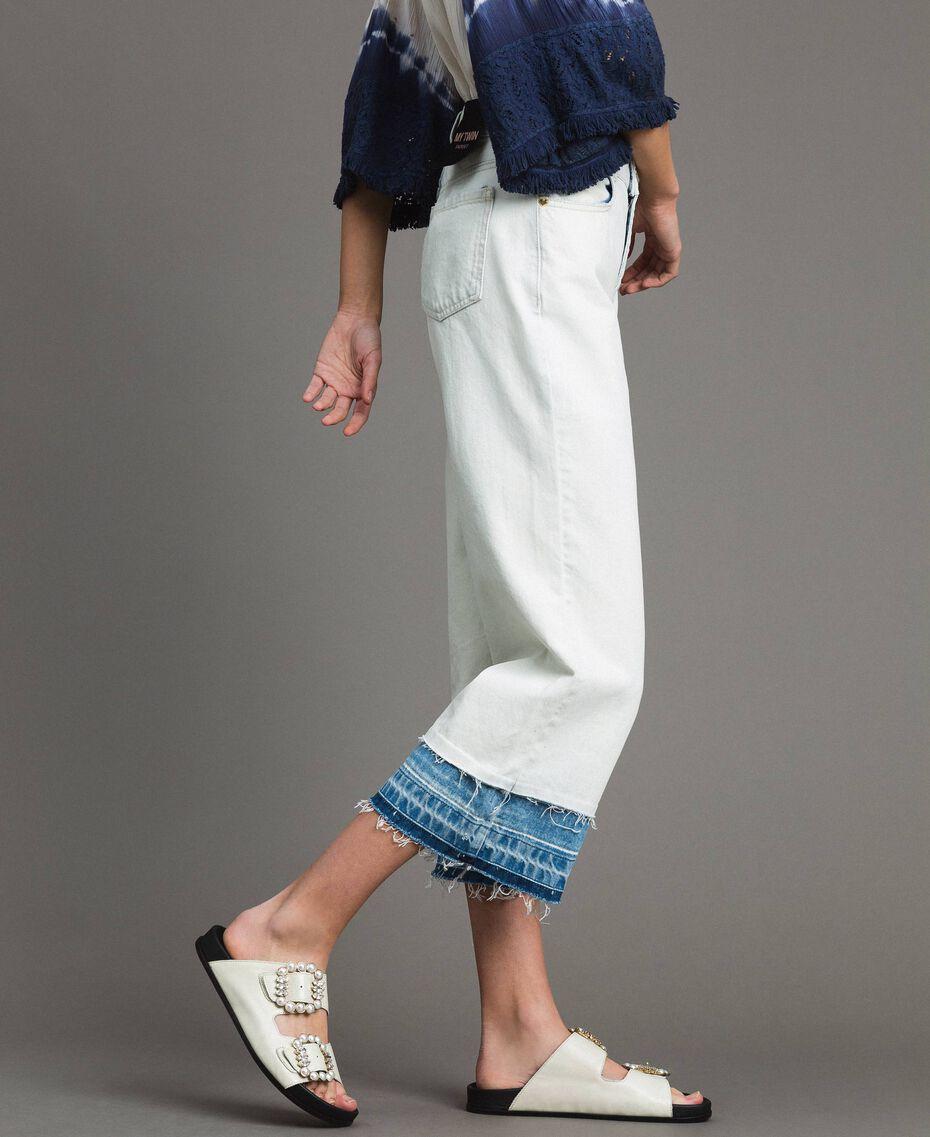 Cotton denim wide leg jeans Denim Blue Woman 191MT2432-02