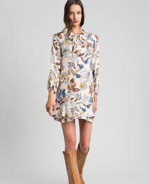 Robe avec imprimé floral Imprimé Fleurs d'Automne Crème Femme 192ST2220-02