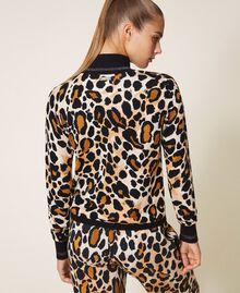 Jersey de cuello alto animal print Estampado Animal print Mujer 202LL3E00-04
