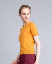 Pullover aus Seide und Kaschmir Brandy Frau PA83GD-02