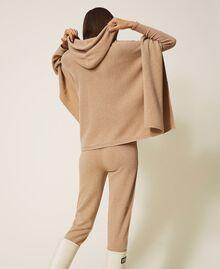 Pantalon de jogging en cachemire et laine Beige «Pastel Skin» Femme 202TT3014-04