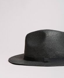 Hat with grosgrain ribbon Black Woman 191TA4392-01