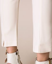 """Cigarette trousers with pockets """"Silk"""" White Woman 201ST2055-04"""