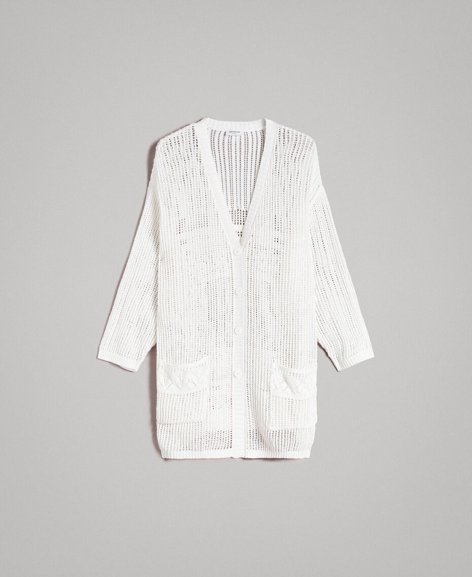 Openwork knitted cardigan Off White Woman 191ST3041-0S