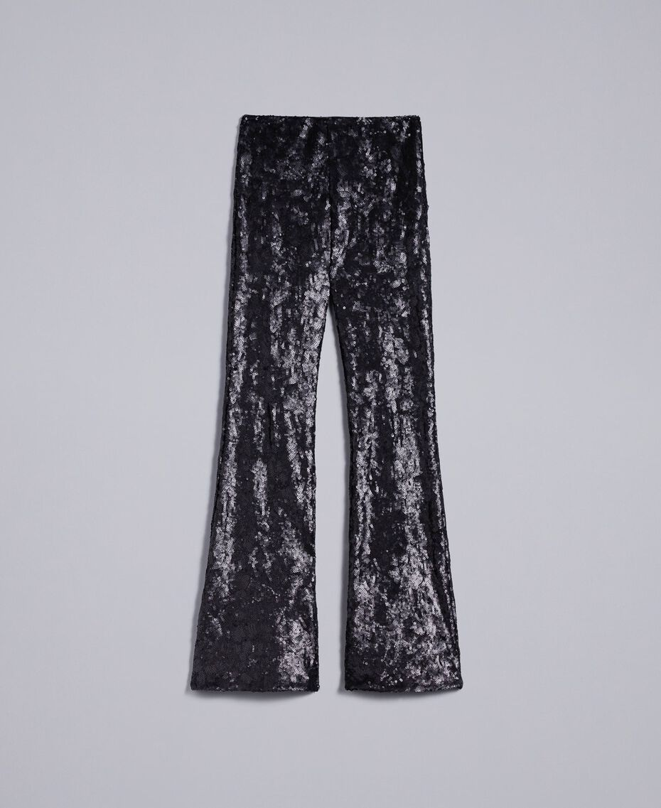 Sequined trousers Black Woman QA8TEF-0S