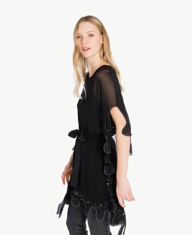 Embroidered caftan Black Woman PS827C-04