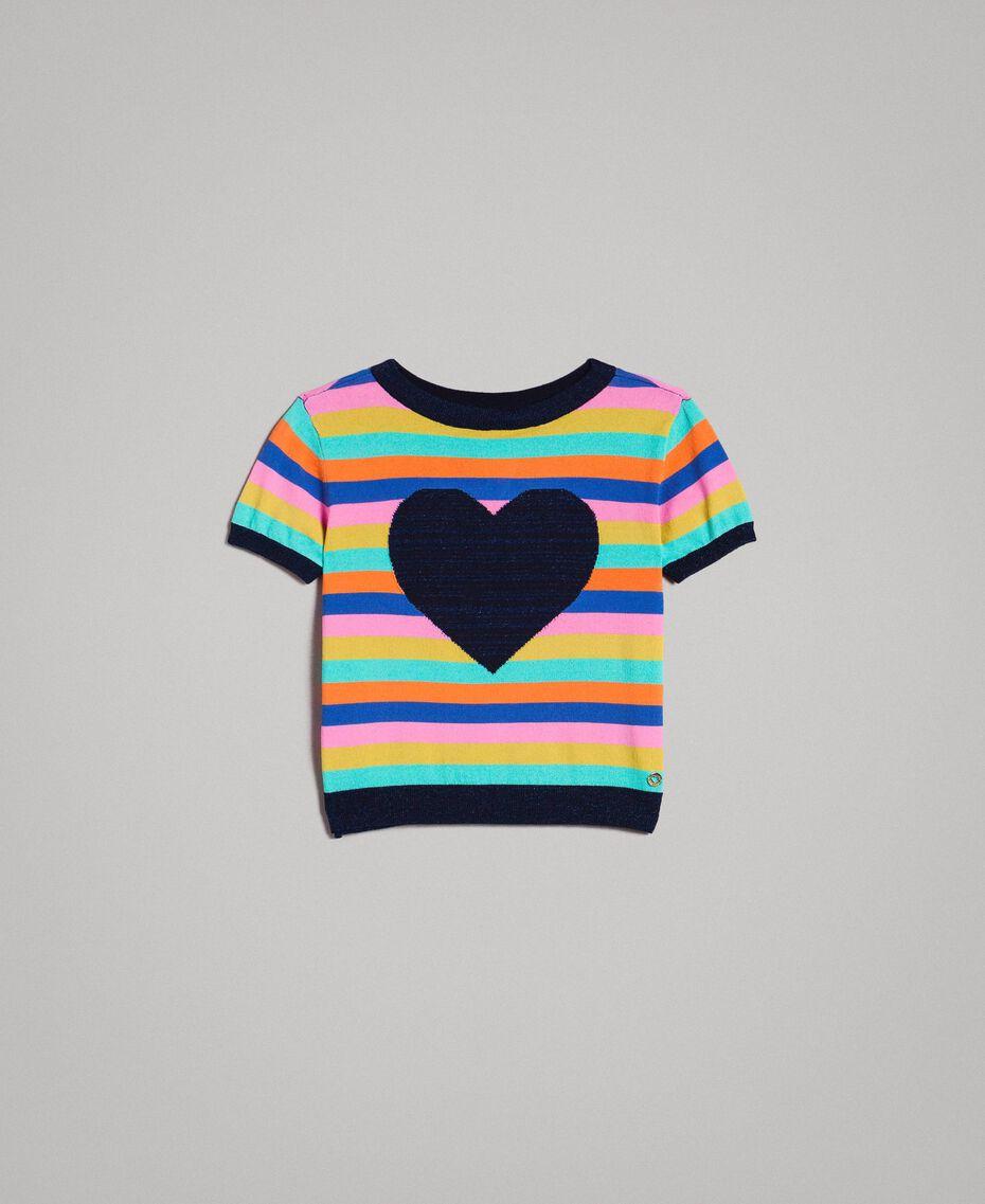 Pull en coton à rayures multicolores Rayures Multicolores Enfant 191GJ3070-01