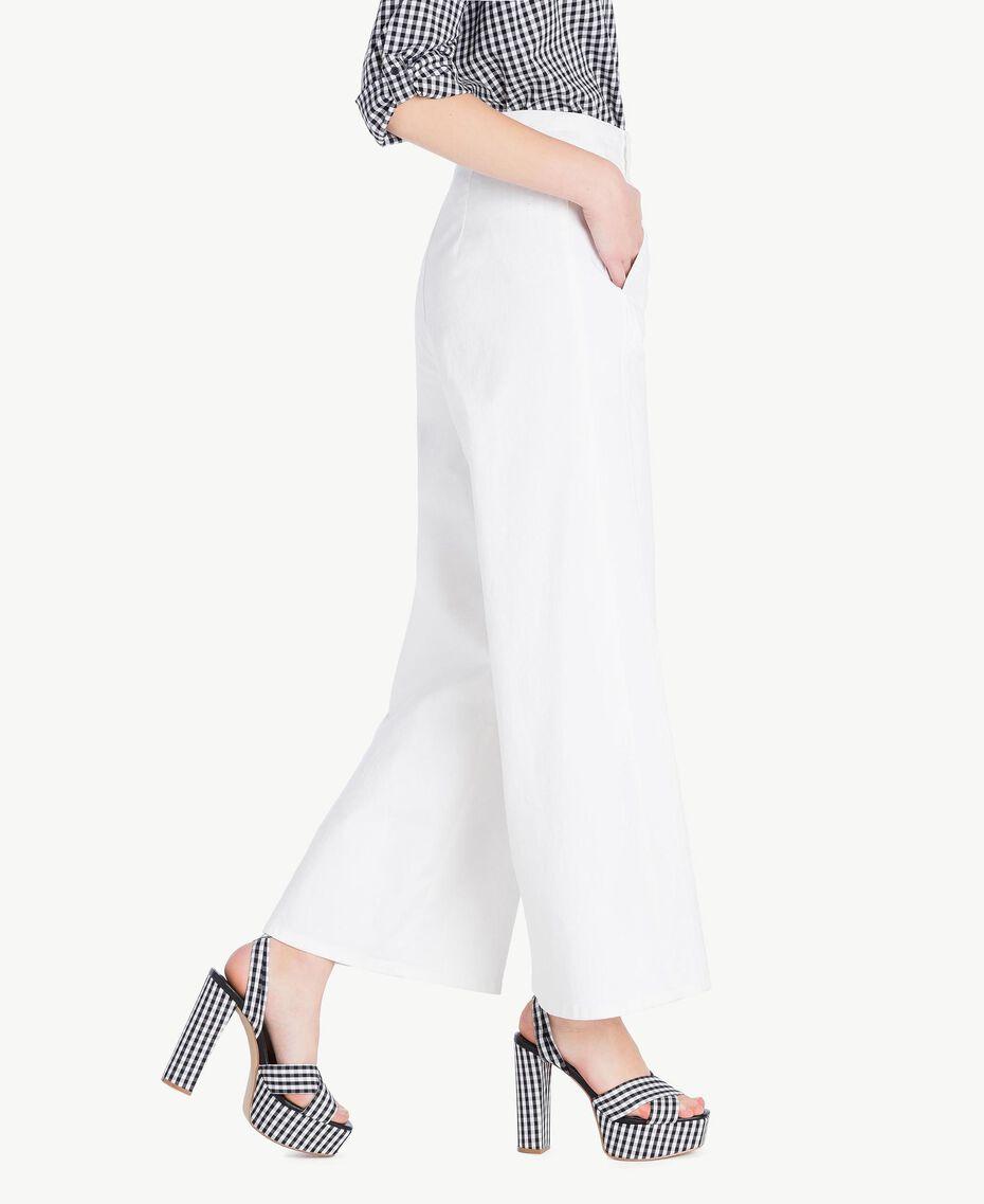 Pantalone cropped Bianco Donna JS82Z6-02
