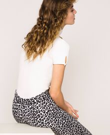 Animal print cigarette trousers Lily Animal Print / Black Woman 201MP2452-04