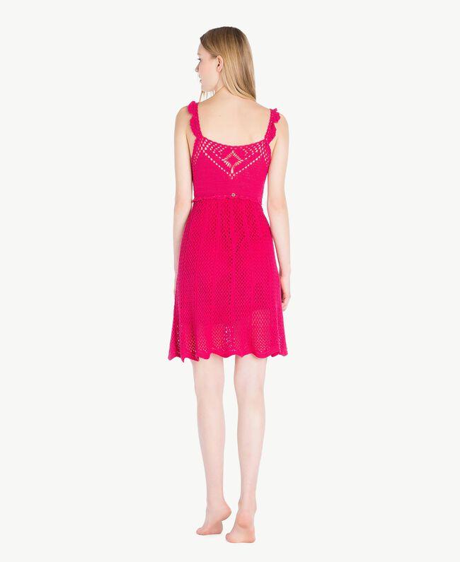 "Crochet dress ""Voluptuous"" Pink Woman MS8HBB-04"
