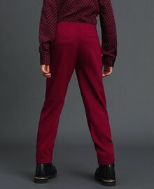 Slim fit trousers with elastic Ruby Wine Red Child 192GJ2250-03