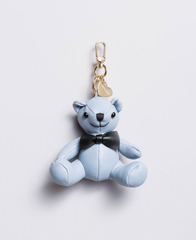Porte-clés en similicuir Bleu Infini Femme AA8PM1-01