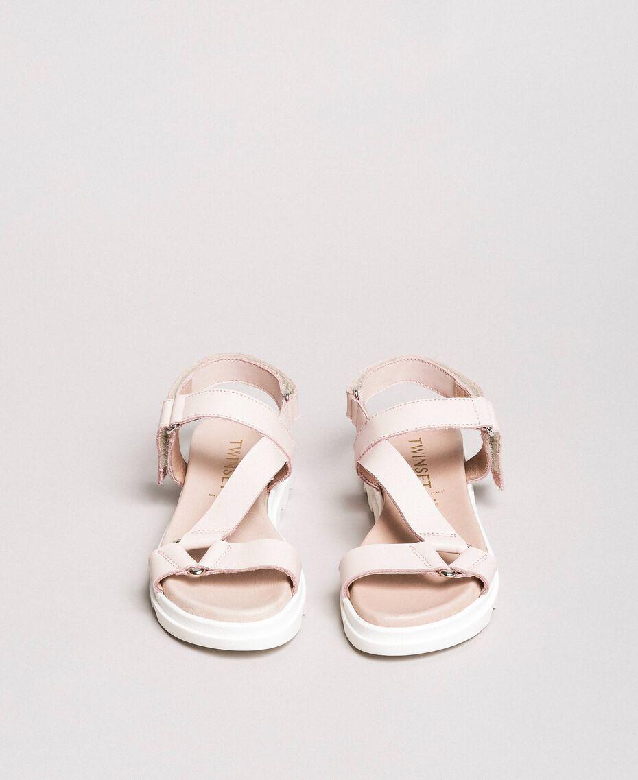 Leather sandals Blossom Pink Child 191GCJ100-03