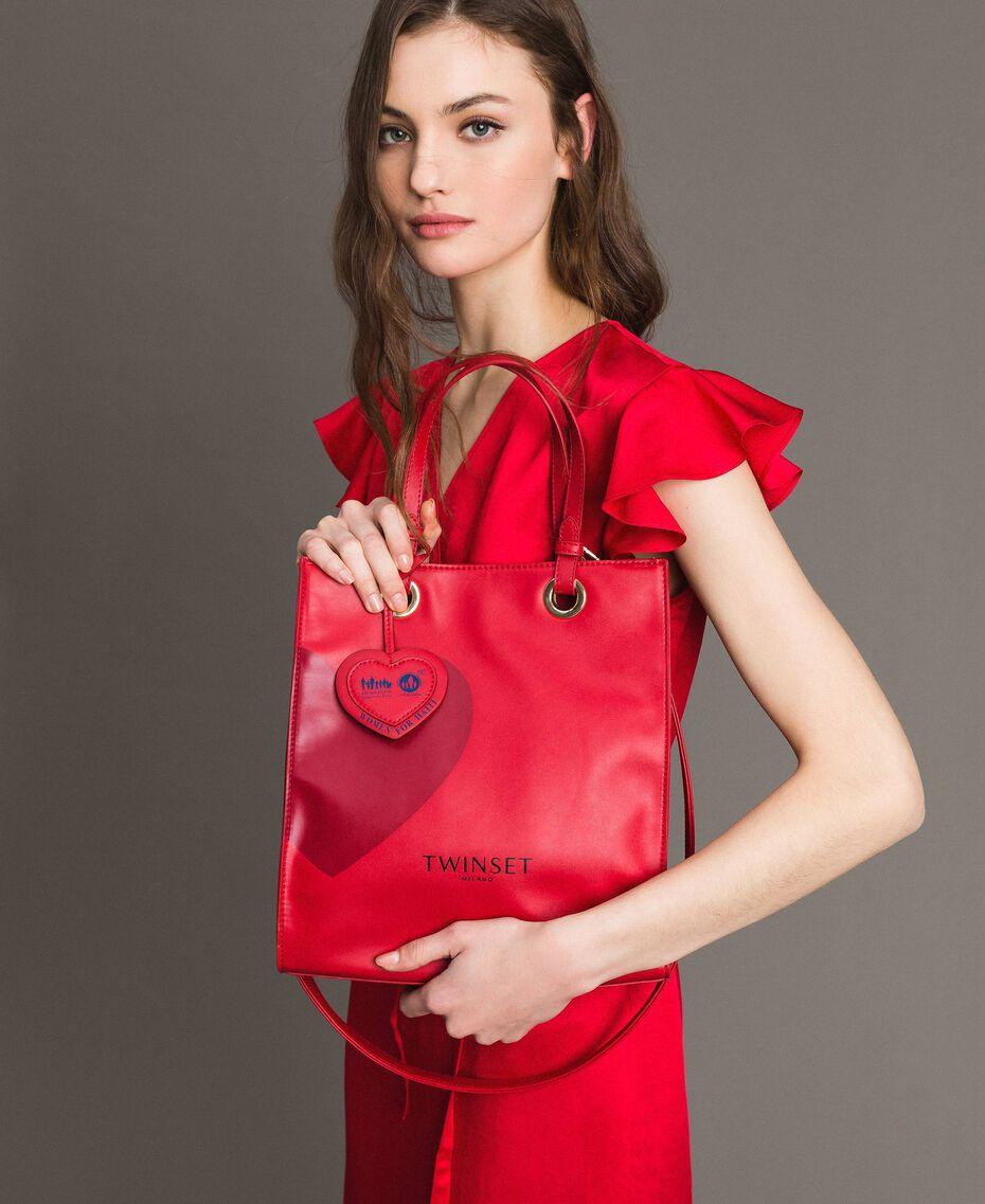 Mon Coeur Tote-Bag aus Lederimitat Rot Frau 191TQ701A-0S