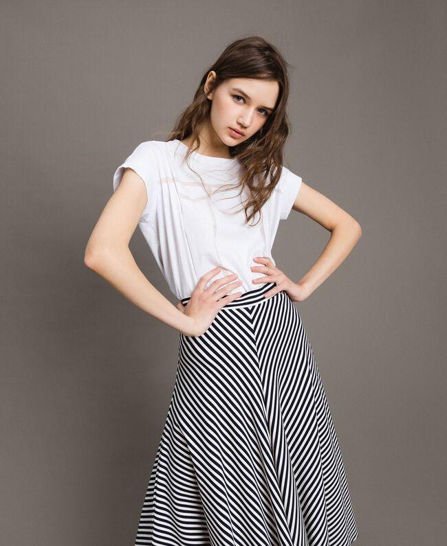 Trompe-l'oeil T-shirt White Woman 191MT2418-01