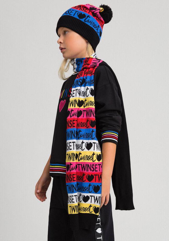 Écharpe et bonnet en maille jacquard