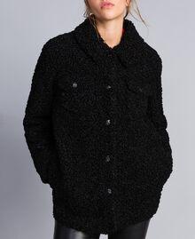 Куртка-кабан из искусственной кожи ягненка Черный женщина JA82KG-04