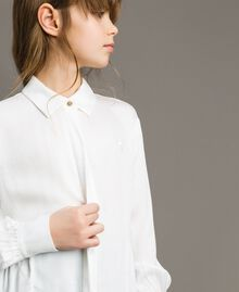 Satin asymmetric shirt Off White Child 191GJ2361-04