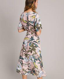 """Robe en crêpe avec imprimé floral Imprimé Exotique """"Rose Doux"""" Femme 191ST2232-03"""