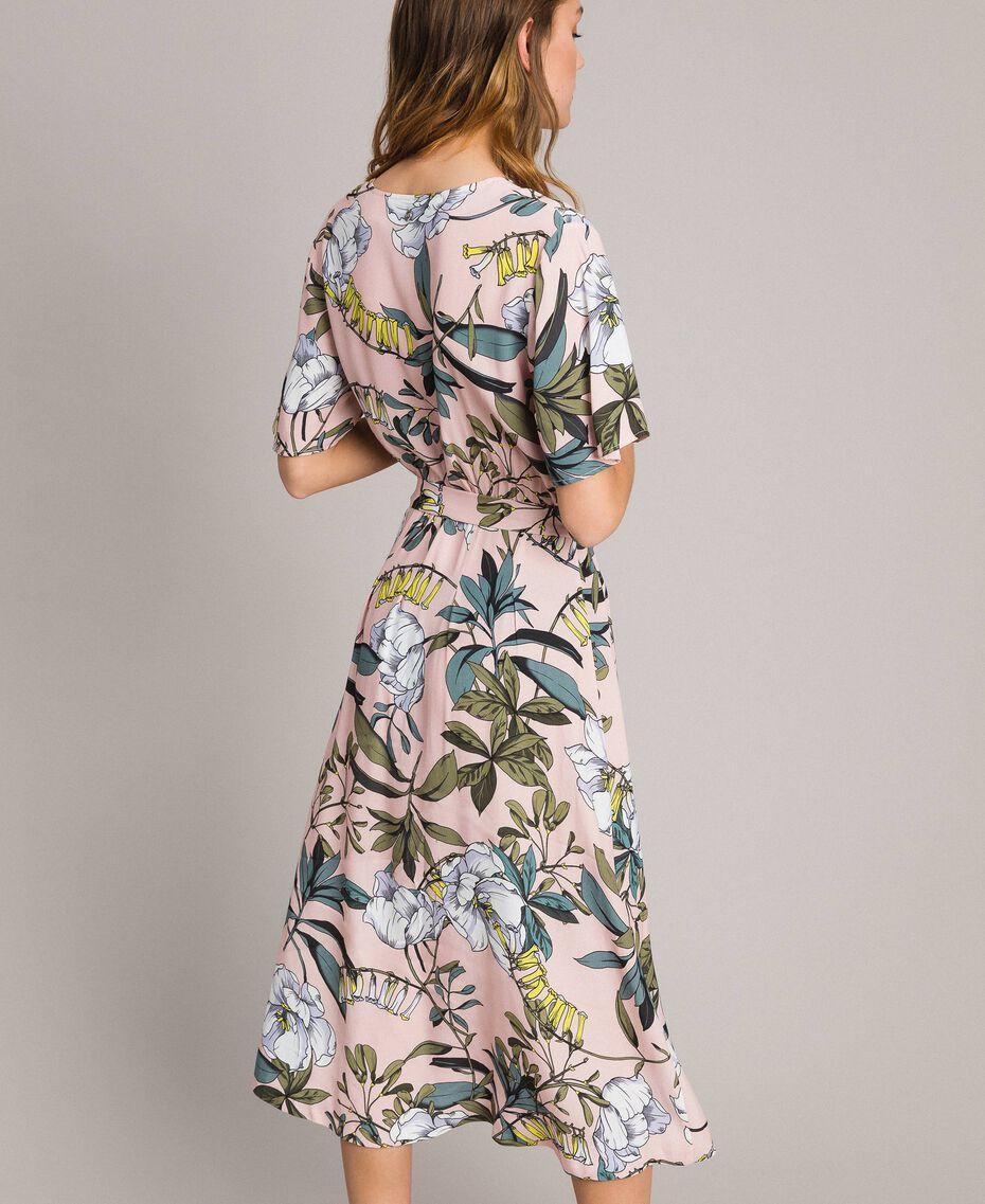 """Vestido de crepé con estampado floral Estampado Exótico Rosa """"Soft Pink"""" Mujer 191ST2232-03"""