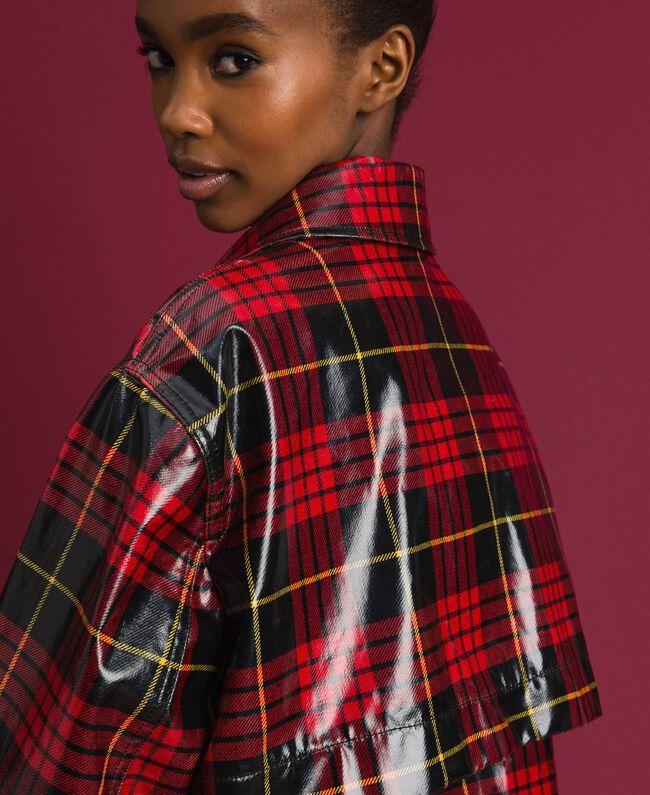 Manteau à carreaux Jacquard Tartan Grenadier Femme 192TP2550-04