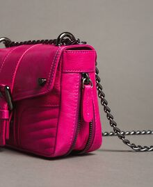 Rebel leather shoulder bag Fuxia Woman 191TO7237-05