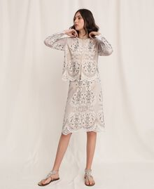 Lace jacket with embroidery Ivory Woman 201TP2460-01