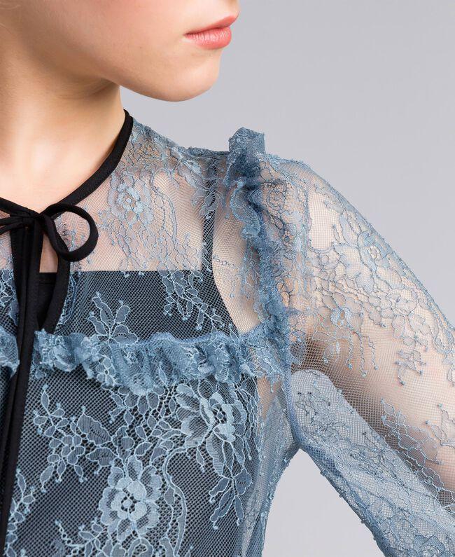 Robe en dentelle de Valenciennes Bleue poudre Femme PA82F1-04