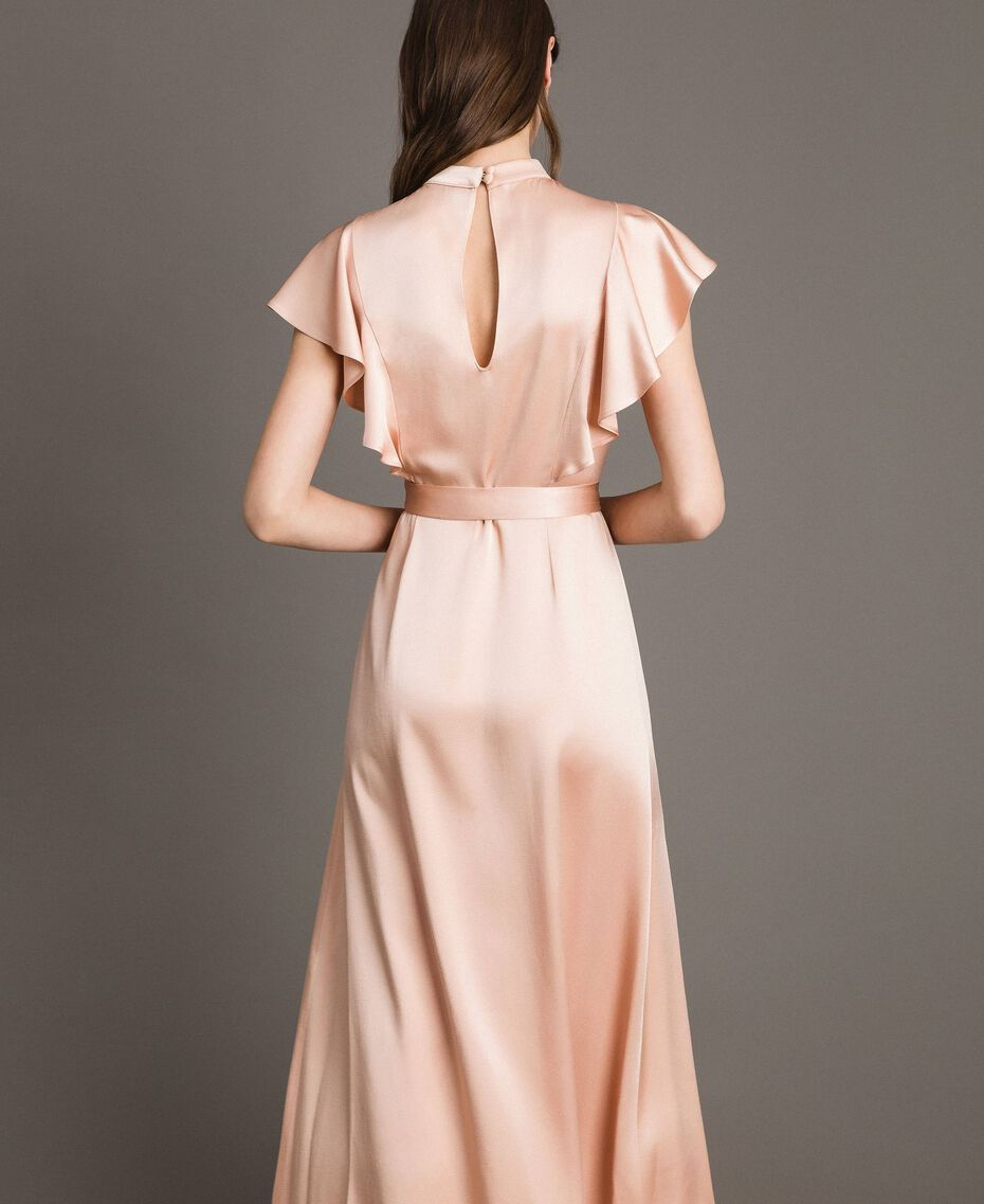 "Long dress with belt ""Nude"" Beige Woman 191TP269B-03"