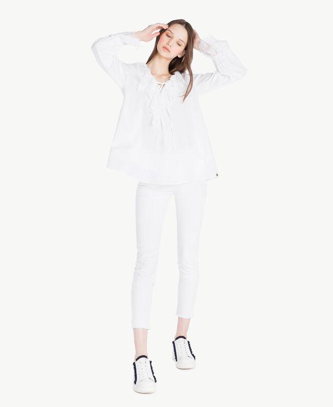 Pantalon skinny Blanc Femme SS82NA-05