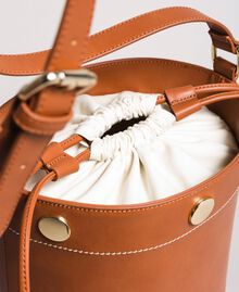Faux leather bucket bag Leather Brown Woman 191TO8111-02