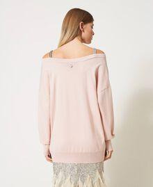Maglia con spalline gioiello Rosa Chiaro Donna 211TQ301B-04