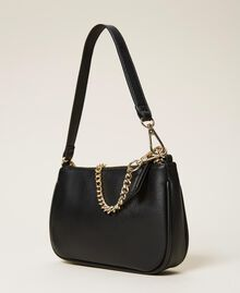 Shoulder bag with chain and logo Black Woman 212TB7050-05