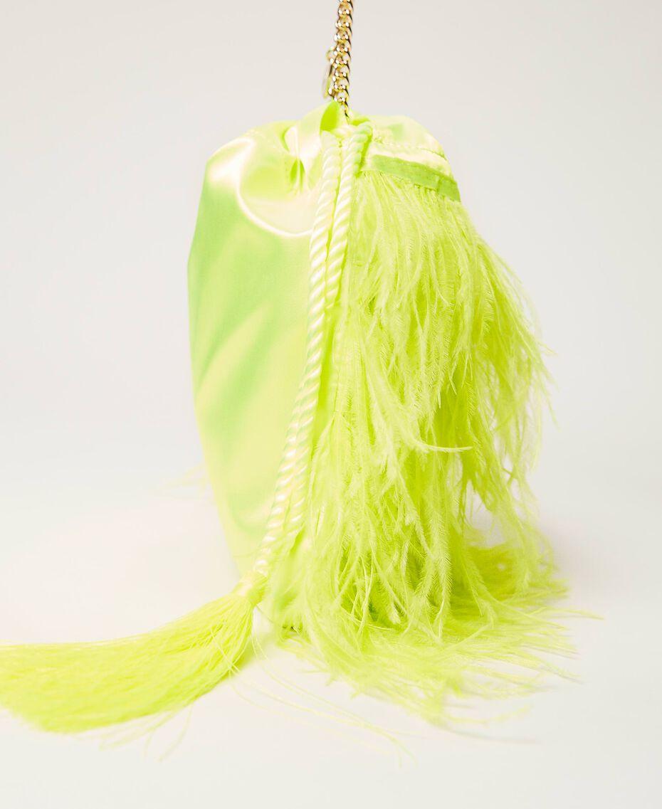 "Атласная сумка с перьями Желтый ""Led"" женщина 211TD8220-02"