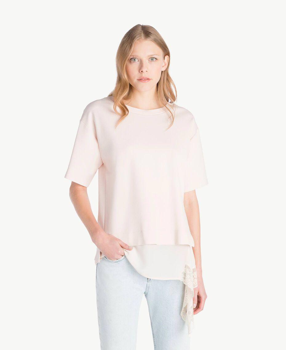 Lace blouse Pale Ecru Woman PS828Q-01