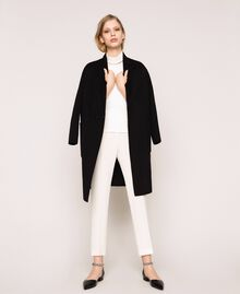 Double wool cloth coat Black Woman 201TP242A-0T