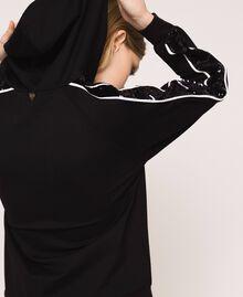 Бомбер с лампасами из пайеток Черный женщина 201TP2291-04