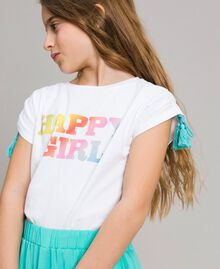 Cotton T-shirt with print White Child 191GJ2772-0S
