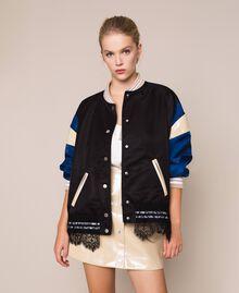 Glossy faux leather mini skirt Vanilla White Woman 201MP2240-0T
