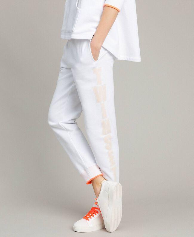Fleece-Jogginghose Weiß Frau 191LL21CC-01