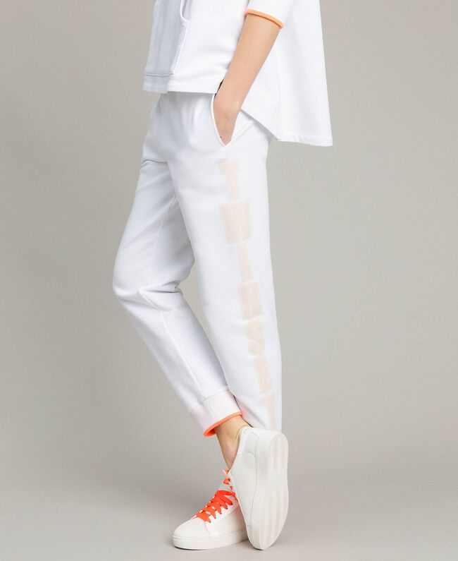 Pantalon de jogging en molleton Blanc Femme 191LL21CC-01