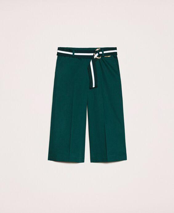 Wide poplin trousers