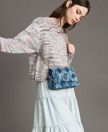 "Umhängetasche aus Jeans im Patchwork-Look ""Arabian Blue"" Blau Frau 191MA7083-0S"