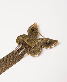 Broche avec papillon et franges Or «Laiton Vieilli Cuivré» Femme 201TA430F-03