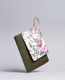 Deux pochettes en similicuir Bicolore Vert / Rose Femme VA8PGP-01