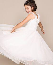 Plumetis tulle dress Pale Cream Child 201GJ2QD0-05