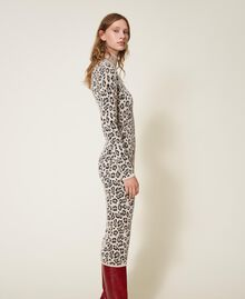 Animal print jacquard sheath dress Animal Jacquard Woman 202TT3160-02