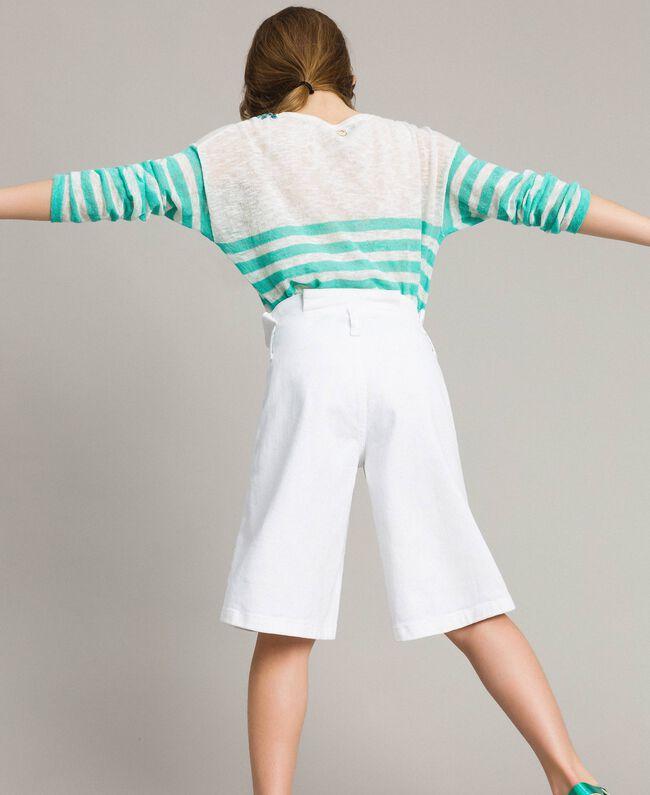 Cotton bull bermuda shorts White Child 191GJ2493-04